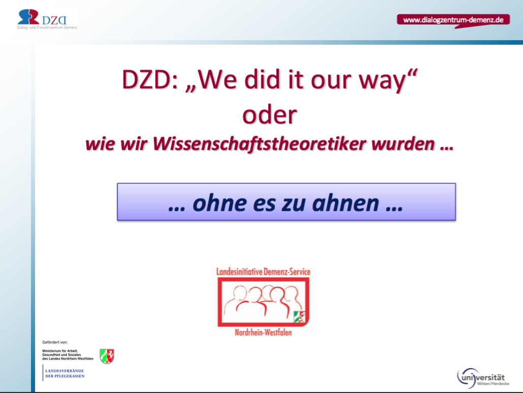 Fazit Dialog Und Transferzentrum Demenz Dzd